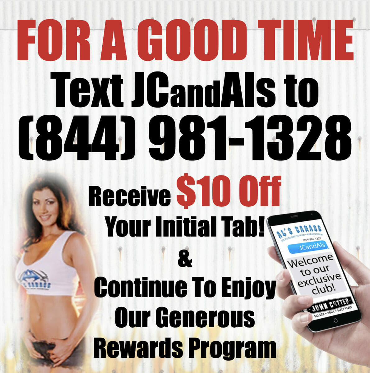 For A Good Time Text John Cutter and Als Graphic