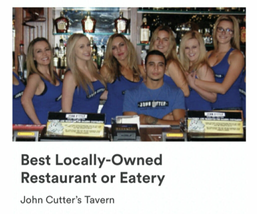 2020 Best Locally Owned Restaurant John Cutter Image