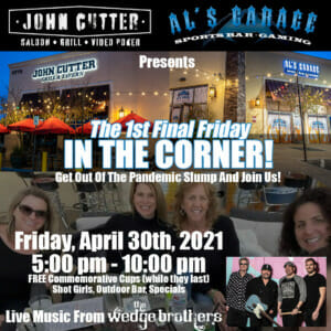 First Final Friday in The Corner with Wedge Brothers